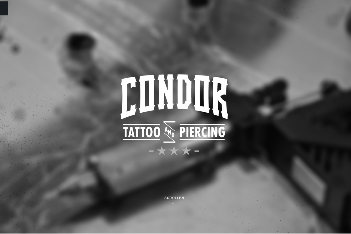 Wordpress Page for tattoo.condor.ch